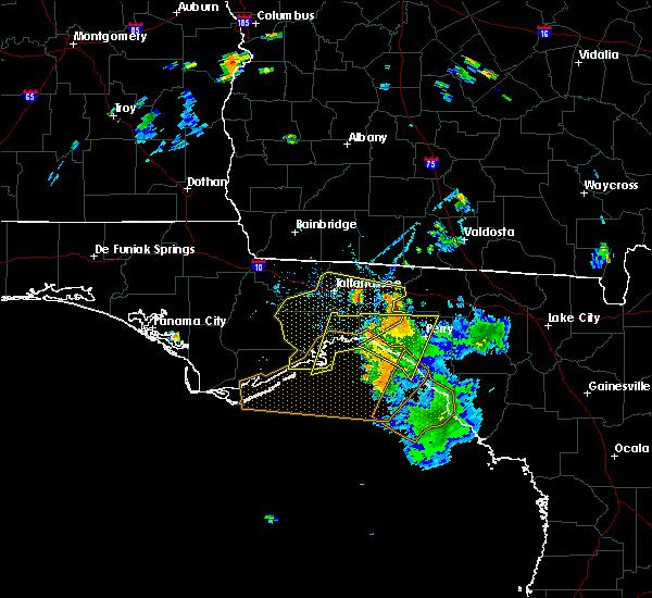 Radar Image for Severe Thunderstorms near St. Marks, FL at 7/21/2020 6:56 PM EDT
