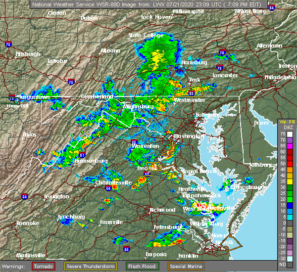 Radar Image for Severe Thunderstorms near Parkville, PA at 7/21/2020 7:13 PM EDT