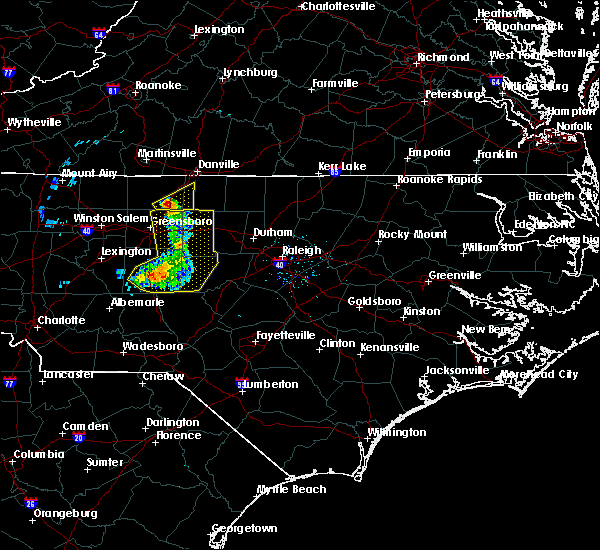 Radar Image for Severe Thunderstorms near Staley, NC at 7/1/2015 8:30 PM EDT