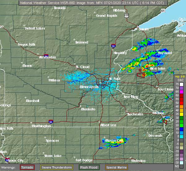 Radar Image for Severe Thunderstorms near Ridgeland, WI at 7/21/2020 6:18 PM CDT