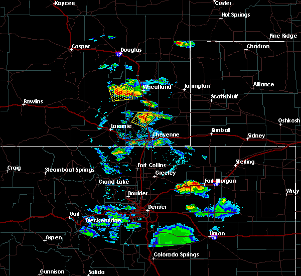 Radar Image for Severe Thunderstorms near Slater, WY at 7/21/2020 5:25 PM MDT