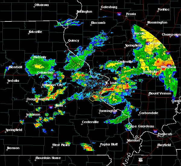 Radar Image for Severe Thunderstorms near Hillsboro, MO at 7/21/2020 6:38 PM CDT