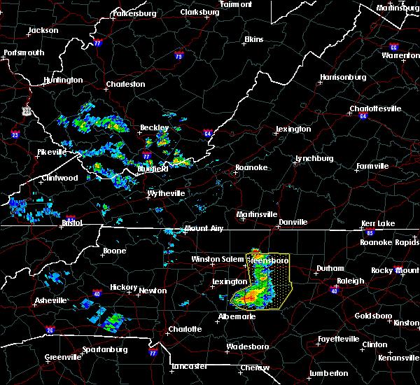 Radar Image for Severe Thunderstorms near Reidsville, NC at 7/1/2015 8:33 PM EDT