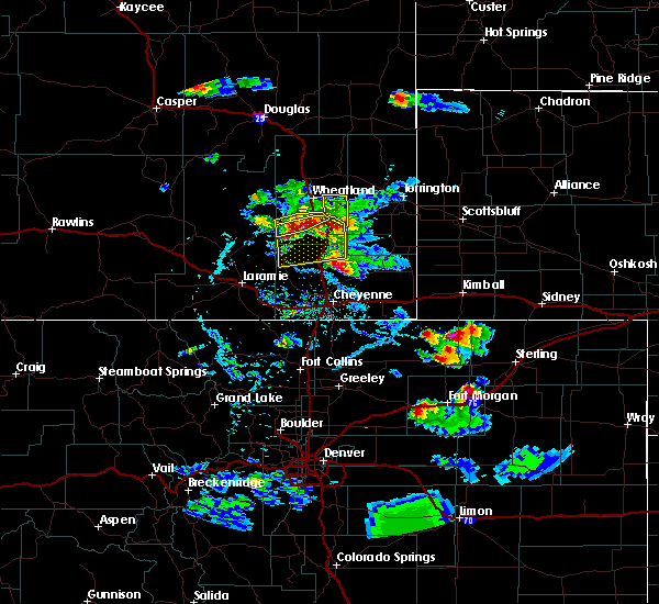 Radar Image for Severe Thunderstorms near Slater, WY at 7/21/2020 6:01 PM MDT