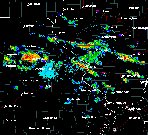 Radar Image for Severe Thunderstorms near Collinsville, IL at 7/1/2015 7:41 PM CDT