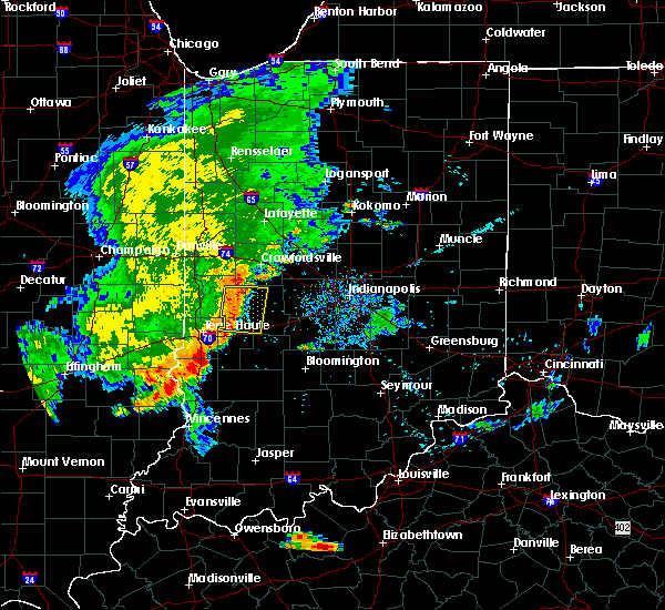 Radar Image for Severe Thunderstorms near Russellville, IN at 7/21/2020 9:03 PM EDT