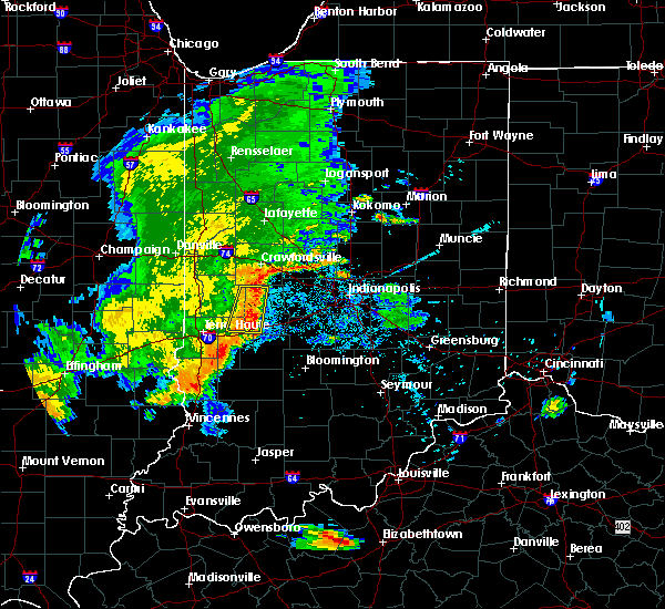Radar Image for Severe Thunderstorms near Avon, IN at 7/21/2020 9:17 PM EDT