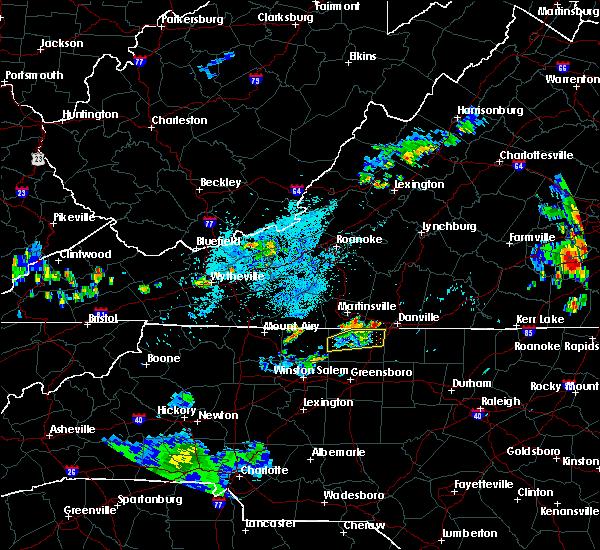 Radar Image for Severe Thunderstorms near Chatmoss, VA at 7/21/2020 9:30 PM EDT
