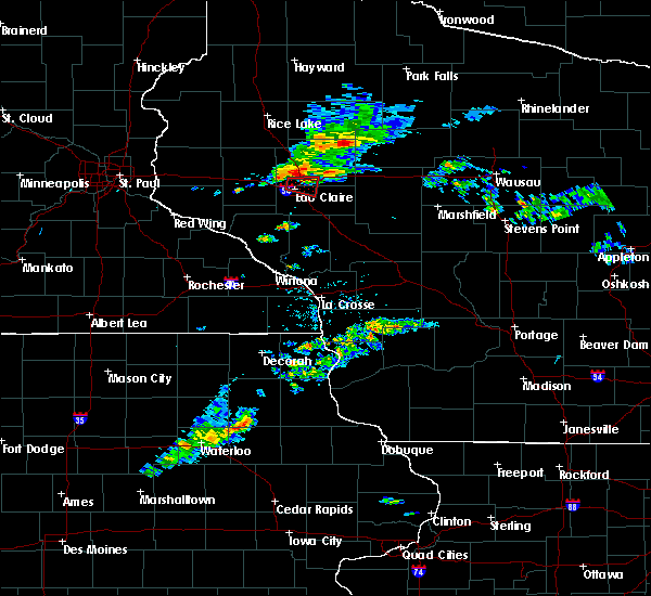 Radar Image for Severe Thunderstorms near Altoona, WI at 7/21/2020 8:46 PM CDT