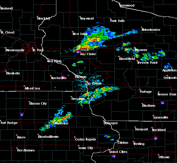 Radar Image for Severe Thunderstorms near Cadott, WI at 7/21/2020 8:55 PM CDT