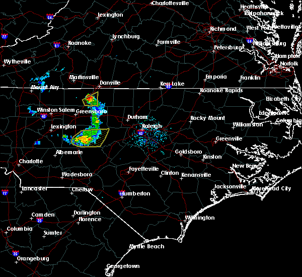 Radar Image for Severe Thunderstorms near Staley, NC at 7/1/2015 8:43 PM EDT