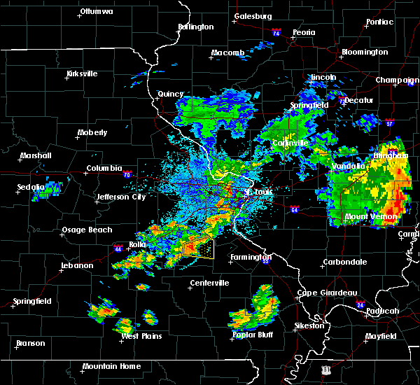 Radar Image for Severe Thunderstorms near Potosi, MO at 7/21/2020 9:07 PM CDT