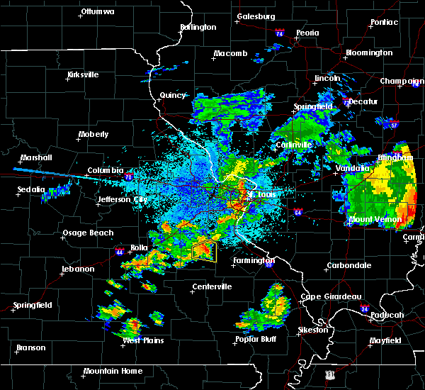 Radar Image for Severe Thunderstorms near Irondale, MO at 7/21/2020 9:17 PM CDT