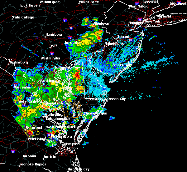 Radar Image for Severe Thunderstorms near Barclay, MD at 7/21/2020 10:24 PM EDT