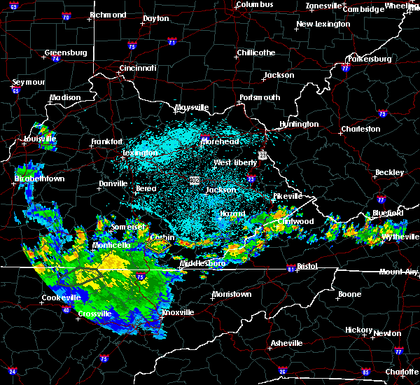 Radar Image for Severe Thunderstorms near Barbourville, KY at 7/21/2020 11:10 PM EDT
