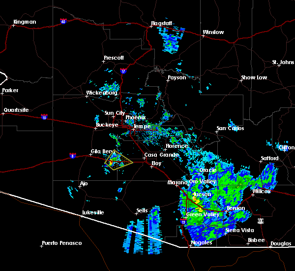 Radar Image for Severe Thunderstorms near Goodyear, AZ at 7/21/2020 8:14 PM MST