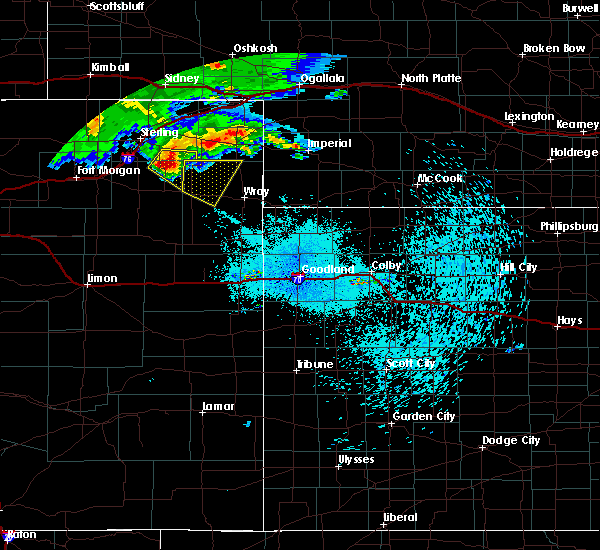 Radar Image for Severe Thunderstorms near Yuma, CO at 7/21/2020 10:05 PM MDT