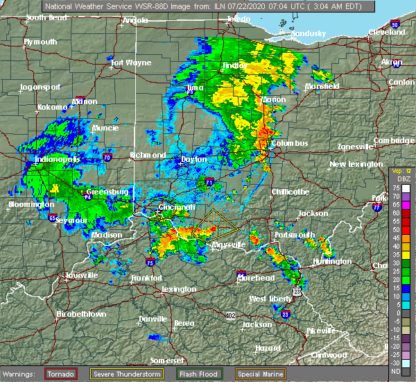 Radar Image for Severe Thunderstorms near Georgetown, OH at 7/22/2020 3:08 AM EDT