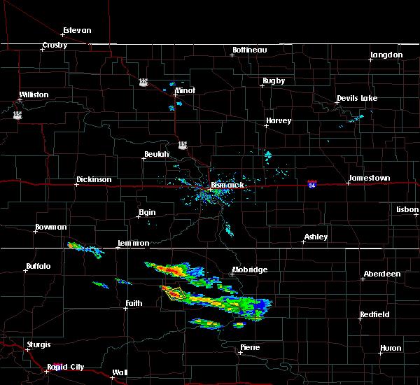 Radar Image for Severe Thunderstorms near Green Grass, SD at 7/22/2020 5:41 AM MDT