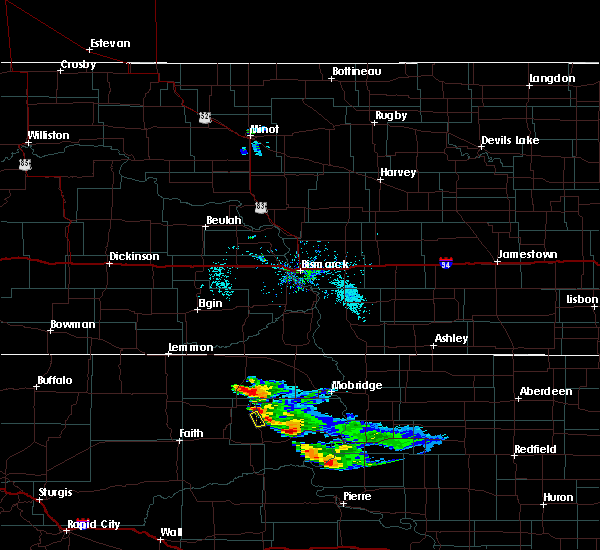 Radar Image for Severe Thunderstorms near Green Grass, SD at 7/22/2020 6:44 AM MDT