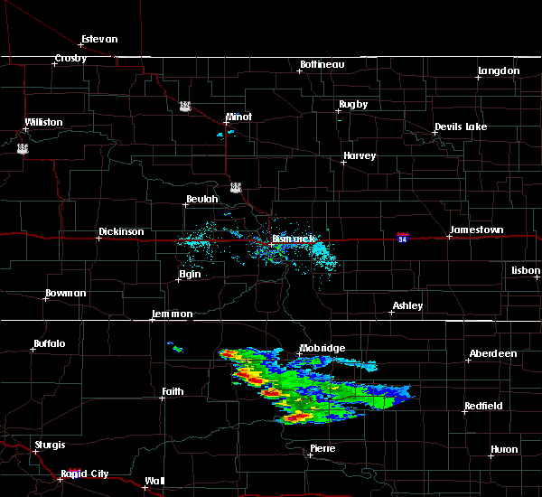 Radar Image for Severe Thunderstorms near Whitehorse, SD at 7/22/2020 7:10 AM MDT
