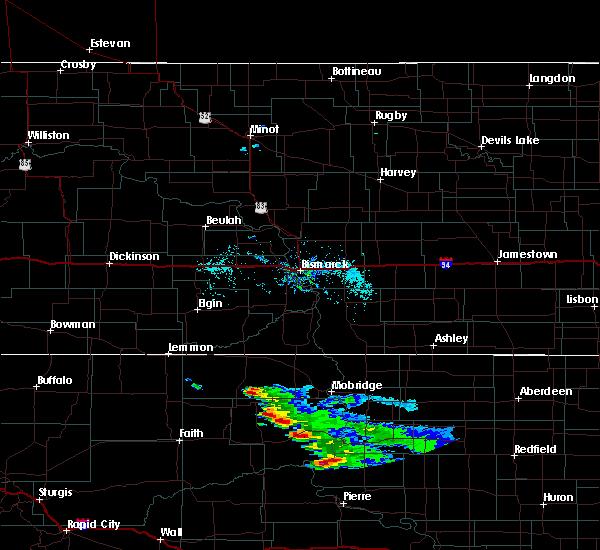 Radar Image for Severe Thunderstorms near La Plant, SD at 7/22/2020 7:12 AM MDT
