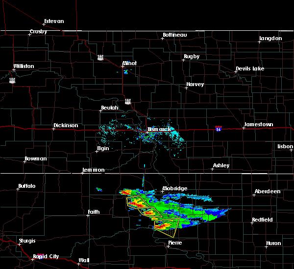 Radar Image for Severe Thunderstorms near Whitehorse, SD at 7/22/2020 7:18 AM MDT