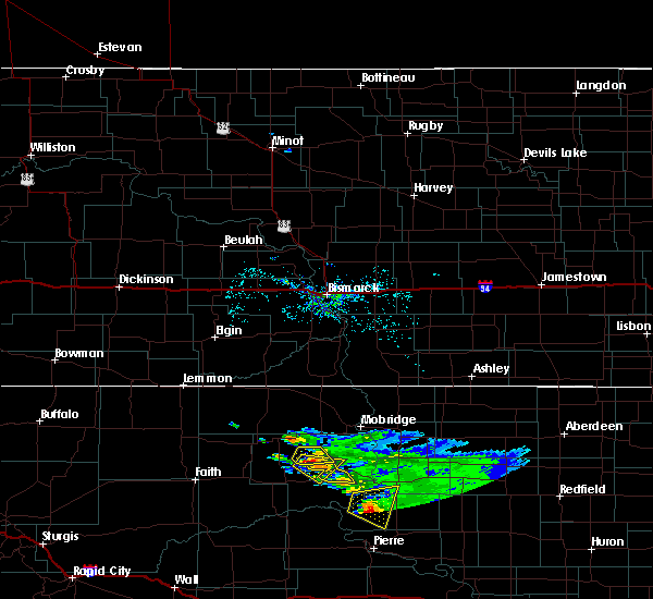 Radar Image for Severe Thunderstorms near La Plant, SD at 7/22/2020 7:47 AM MDT