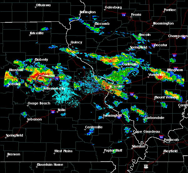 Radar Image for Severe Thunderstorms near Frontenac, MO at 7/1/2015 7:55 PM CDT