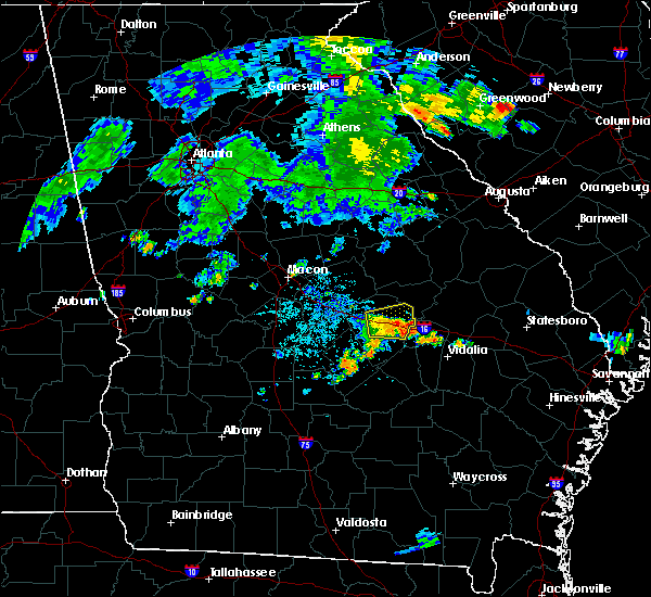 Radar Image for Severe Thunderstorms near Swainsboro, GA at 7/1/2015 8:59 PM EDT