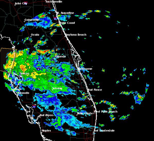 Radar Image for Severe Thunderstorms near Tavares, FL at 7/22/2020 1:51 PM EDT