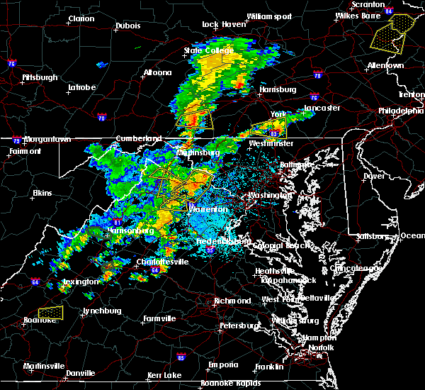 Radar Image for Severe Thunderstorms near Orange, VA at 7/22/2020 2:38 PM EDT