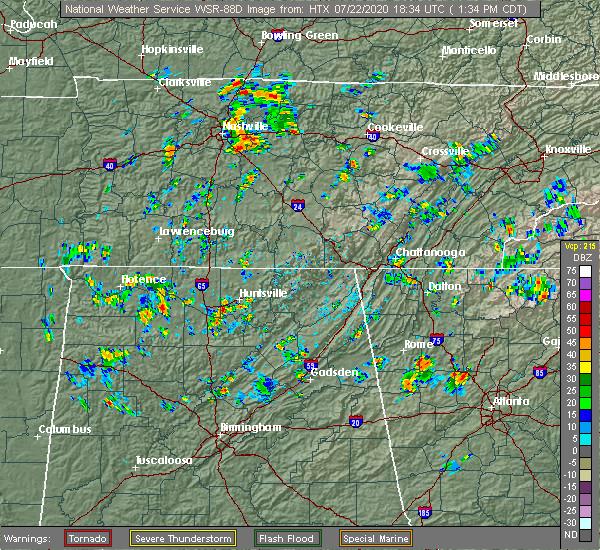 Radar Image for Severe Thunderstorms near Huntsville, AL at 7/22/2020 1:41 PM CDT