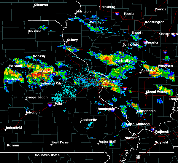 Radar Image for Severe Thunderstorms near Fayetteville, IL at 7/1/2015 8:08 PM CDT