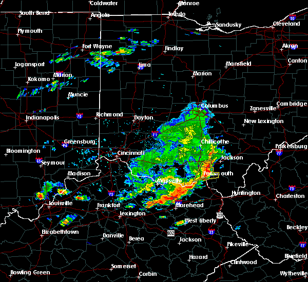 Radar Image for Severe Thunderstorms near Portsmouth, OH at 7/22/2020 3:52 PM EDT