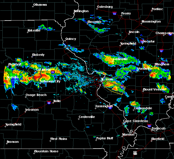 Radar Image for Severe Thunderstorms near Wardsville, MO at 7/1/2015 8:28 PM CDT