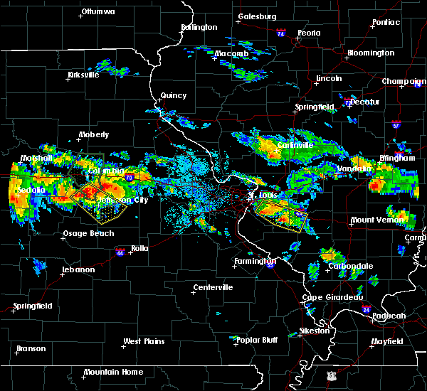Radar Image for Severe Thunderstorms near Fayetteville, IL at 7/1/2015 8:33 PM CDT