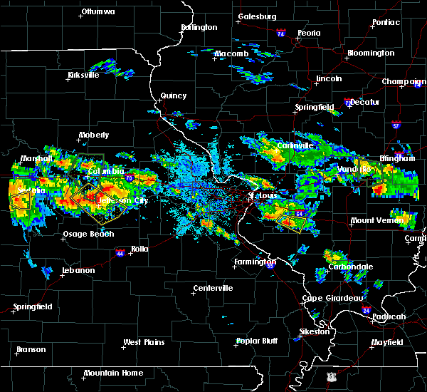 Radar Image for Severe Thunderstorms near Fayetteville, IL at 7/1/2015 8:43 PM CDT