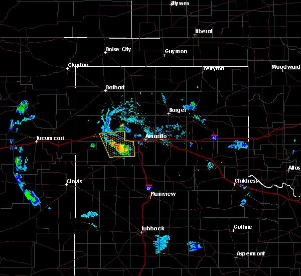 Radar Image for Severe Thunderstorms near Vega, TX at 7/22/2020 6:44 PM CDT