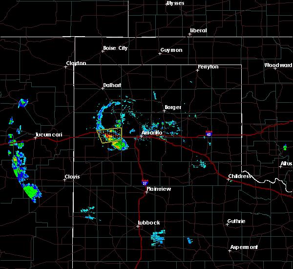 Radar Image for Severe Thunderstorms near Vega, TX at 7/22/2020 6:58 PM CDT