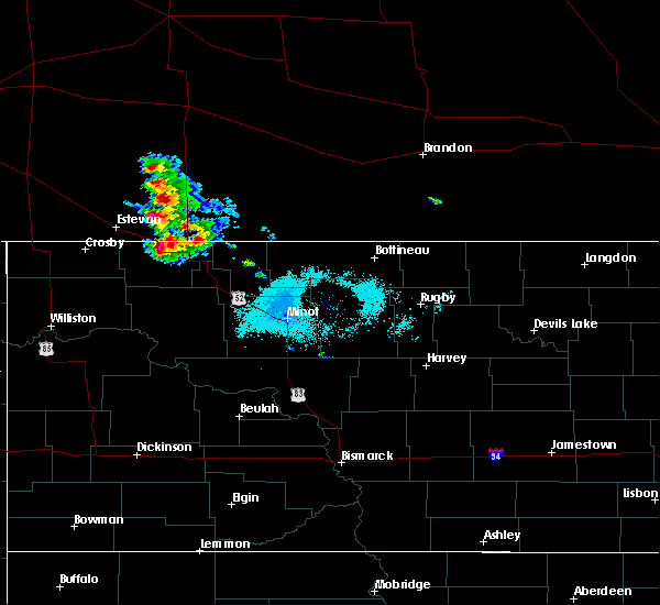 Radar Image for Severe Thunderstorms near Flaxton, ND at 7/23/2020 6:34 AM CDT