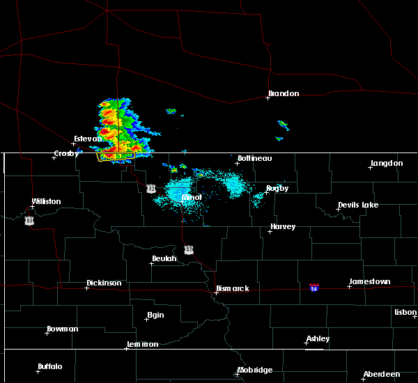 Radar Image for Severe Thunderstorms near Flaxton, ND at 7/23/2020 6:49 AM CDT