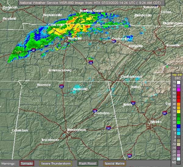 Radar Image for Severe Thunderstorms near Sale Creek, TN at 7/23/2020 12:40 PM EDT