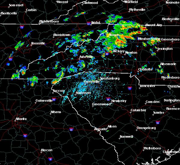 Radar Image for Severe Thunderstorms near Lenoir, NC at 7/23/2020 2:16 PM EDT