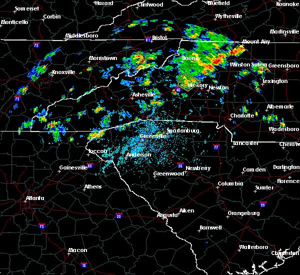 Radar Image for Severe Thunderstorms near Lenoir, NC at 7/23/2020 2:35 PM EDT