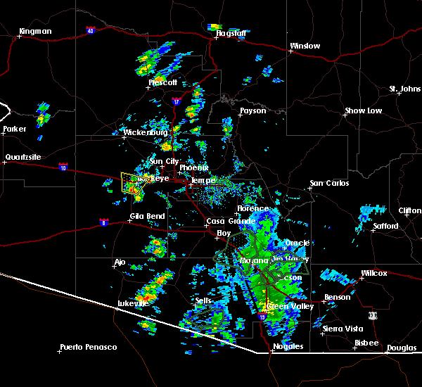 Radar Image for Severe Thunderstorms near Goodyear, AZ at 7/23/2020 12:35 PM MST