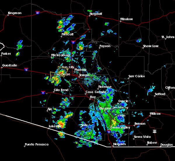 Radar Image for Severe Thunderstorms near Goodyear, AZ at 7/23/2020 12:41 PM MST