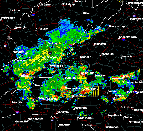 Radar Image for Severe Thunderstorms near Cooleemee, NC at 7/23/2020 4:01 PM EDT