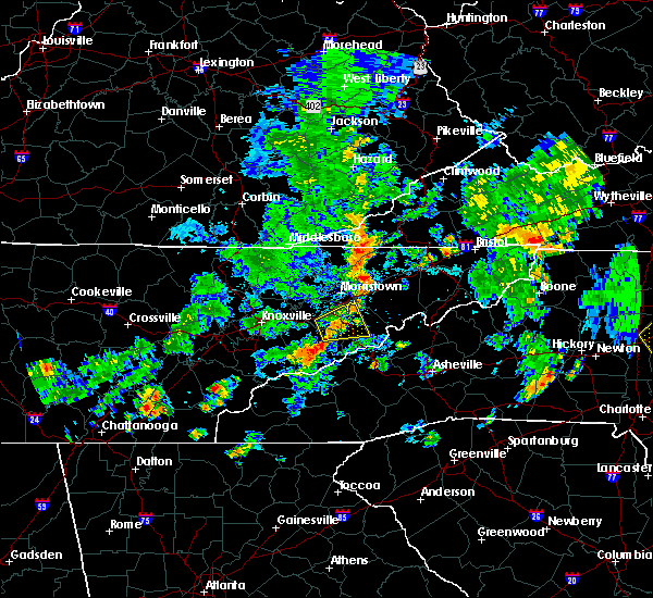 Radar Image for Severe Thunderstorms near Morristown, TN at 7/23/2020 4:26 PM EDT