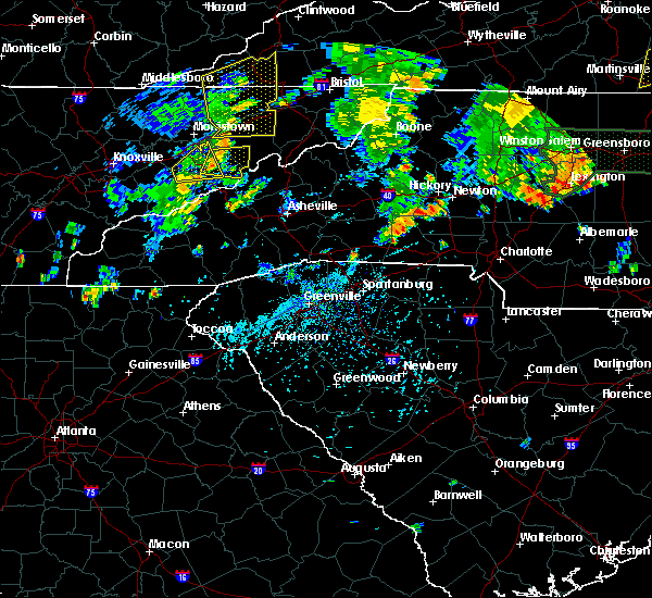 Radar Image for Severe Thunderstorms near Conover, NC at 7/23/2020 4:43 PM EDT